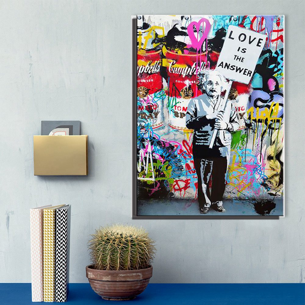 Gift Abstract Large Banksy Art painting Love
