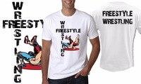 2018 neue sommer-beiläufige T Mann Mode Runden Kragen T-shirt Freestyle Wrestling Griechisch-römischen T-shirt business