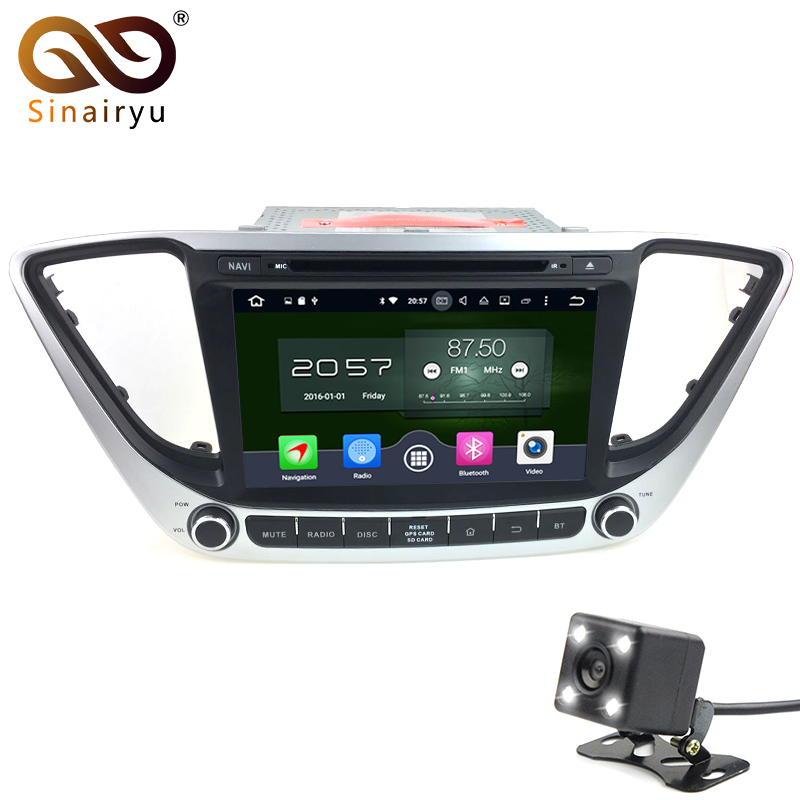 Sinairyu Android 6 0 8 Core For Hyundai Verna Solaris 2017 Car DVD GPS Navigation Car