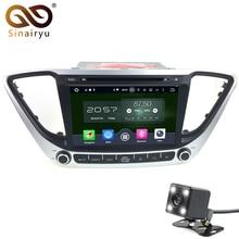 Sinairyu Android 6.0 8 Core For Hyundai Verna Solaris 2017 Car DVD GPS Navigation Car Radio Audio Video Player GPS Multimedia