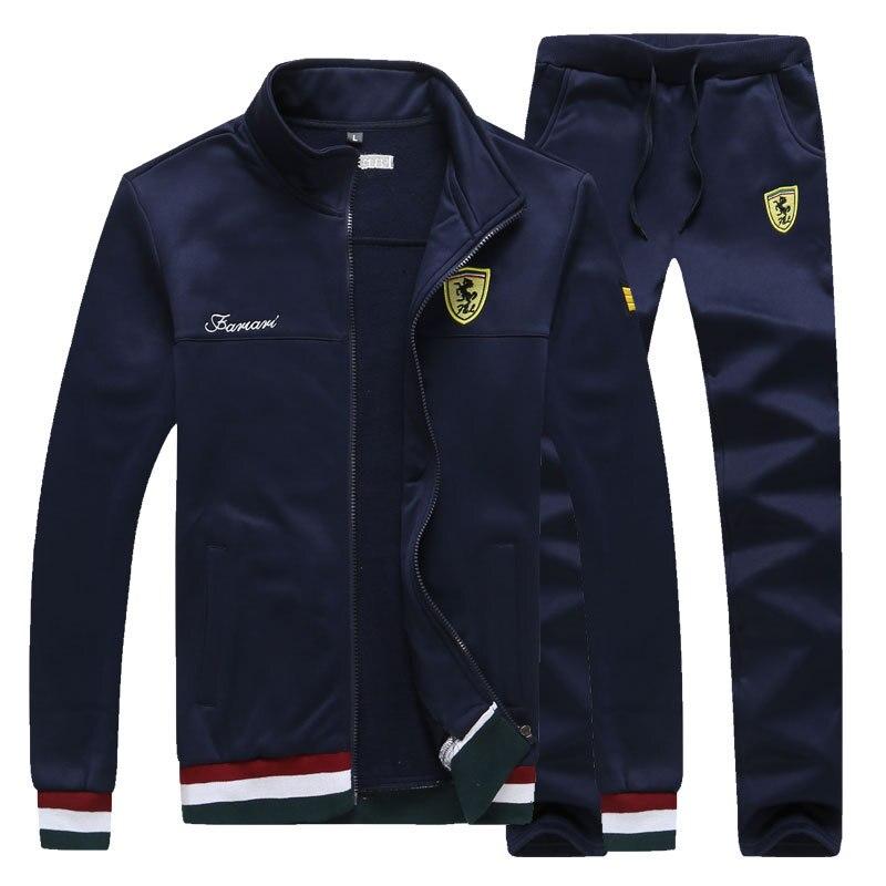 Männer trainingsanzug Paket Ferrari Mit Kapuze Sweatshirt Herren Hoodie Sport Paket Neue Beiläufige Hip Hop Harajuku Sportswear 2 stücke Mantel + hosen