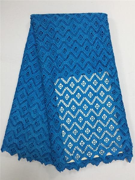 จัดส่งฟรี!รอยัลสีฟ้าที่มีคุณภาพสูงผ้าปักเย็บผ้าแอฟริกันผ้าลูกไม้ฝรั่งเศสสำหรับการแต่งกายไนจีเรีย-ใน ลูกไม้ จาก บ้านและสวน บน   2