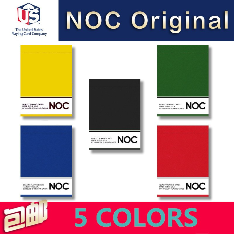 1 Deck NOC Original 5 Color Choice Playing Cards Poker Size Deck USPCC HOPC Custom Limited New Magic