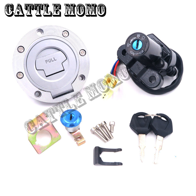 Ignition Switch Gas Cap Cover Seat Lock Key Set For YZF R1 R6 1992-2007 2008 2009 2010 2011 2012 2013