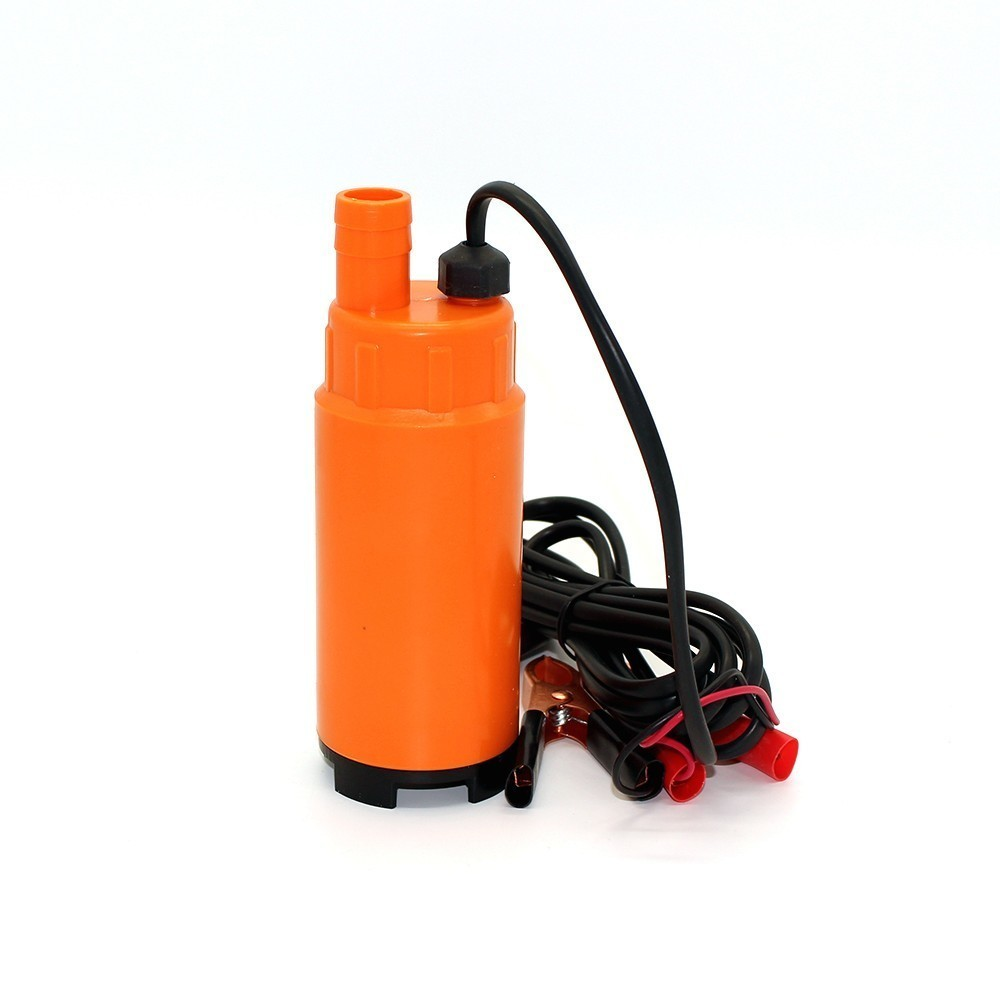 DC 12V/24V 30L/min 19mm hose,Plastic Submersible Electric bilge pump for diesel/oil/water/fuel transfer,with Switch,12 24 v volt image