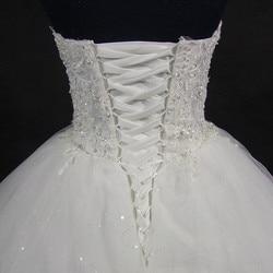 QQ Lover 2019 Elegant Luxury Lace Wedding Dress Vintage Plus Size Ball Gowns Vestido De Noiva 5