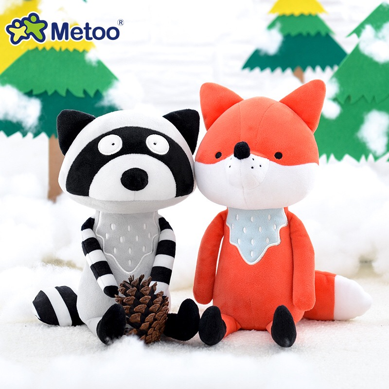 Image 2 - 35cm Metoo Cute cartoon Stuffed animals plush toys doll  fox raccoon koala dolls for kids girls Birthday Christmas child gift-in Stuffed & Plush Animals from Toys & Hobbies
