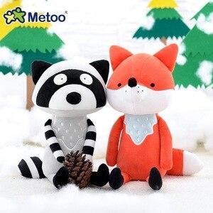 Image 2 - Metoo juguetes de peluche de dibujos animados para niños, muñecos de peluche de 35cm, de zorro, mapache, koala