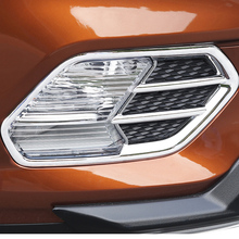 Free Shipping High Quality ABS Chrome Front Fog lamps cover Trim Fog lamp shade Trim For Ford Kuga bjmycyy 2pcs set the front fog lamp stainless steel decorative box for ford escape kuga 2017