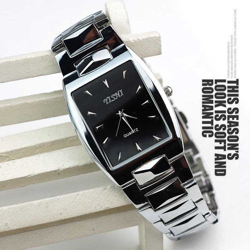 Hot Sell reloj hombre Fashion top grade men quartz watch Classic square men business full steel watch montres Relogio Masculino цена и фото