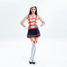 Adult Women Halloween Sexy Nurse Sailor Skirt Costume Fetish Porn Games Suit Erotic Bondage Fancy Hollow Outfit For Girls