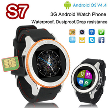 S7 Smart Watch Tri-proof watch Android 4.4 512M + 4G Waterproof watches BT4.0 support 3G GPS SIM Camera WiFi Facebook watch men