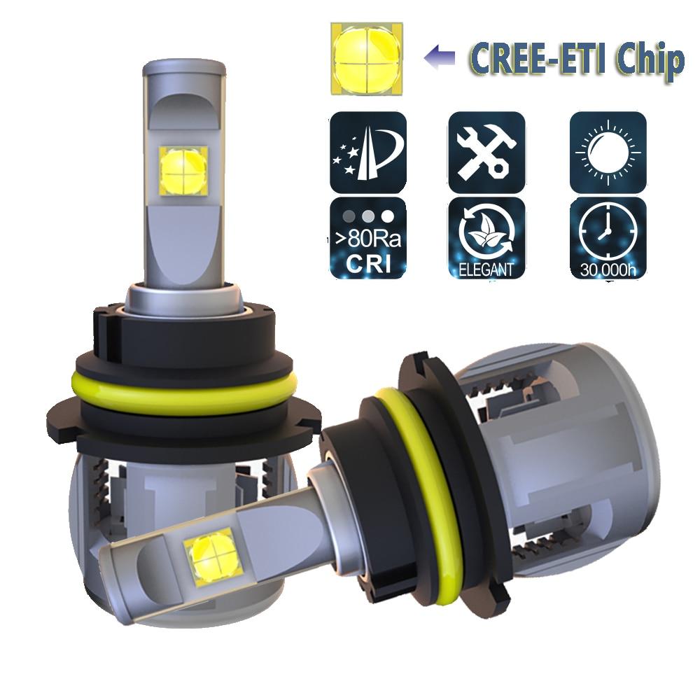 2x 9007 9004 HB5 CREE LED Headlight Conversion Kit Hi//Lo Power Bulbs 6000K HID