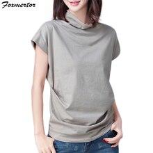 Высокое качество, 5 цветов, S-3XL, простая футболка, Женская хлопковая эластичная Базовая футболка, женские повседневные топы, женская футболка с коротким рукавом, E238