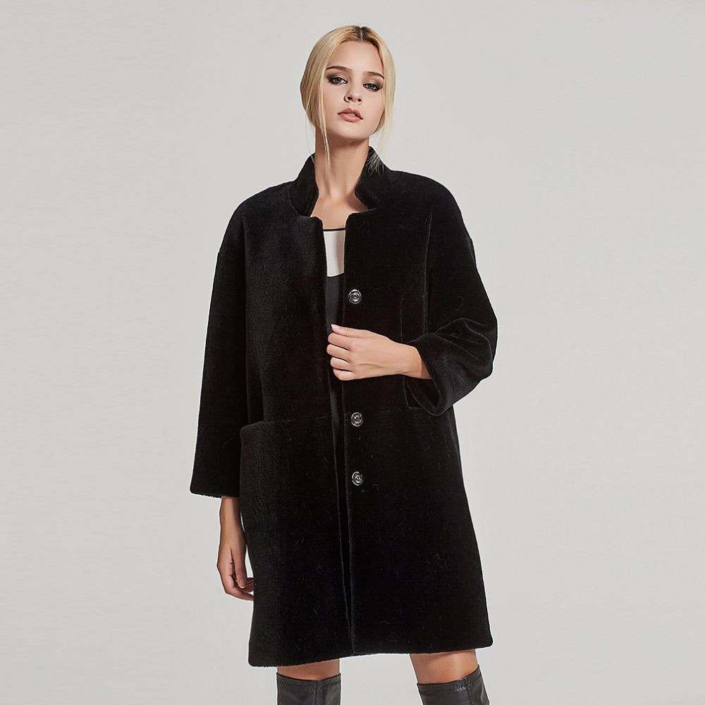 Women Shorn Sheepskin Coat She...
