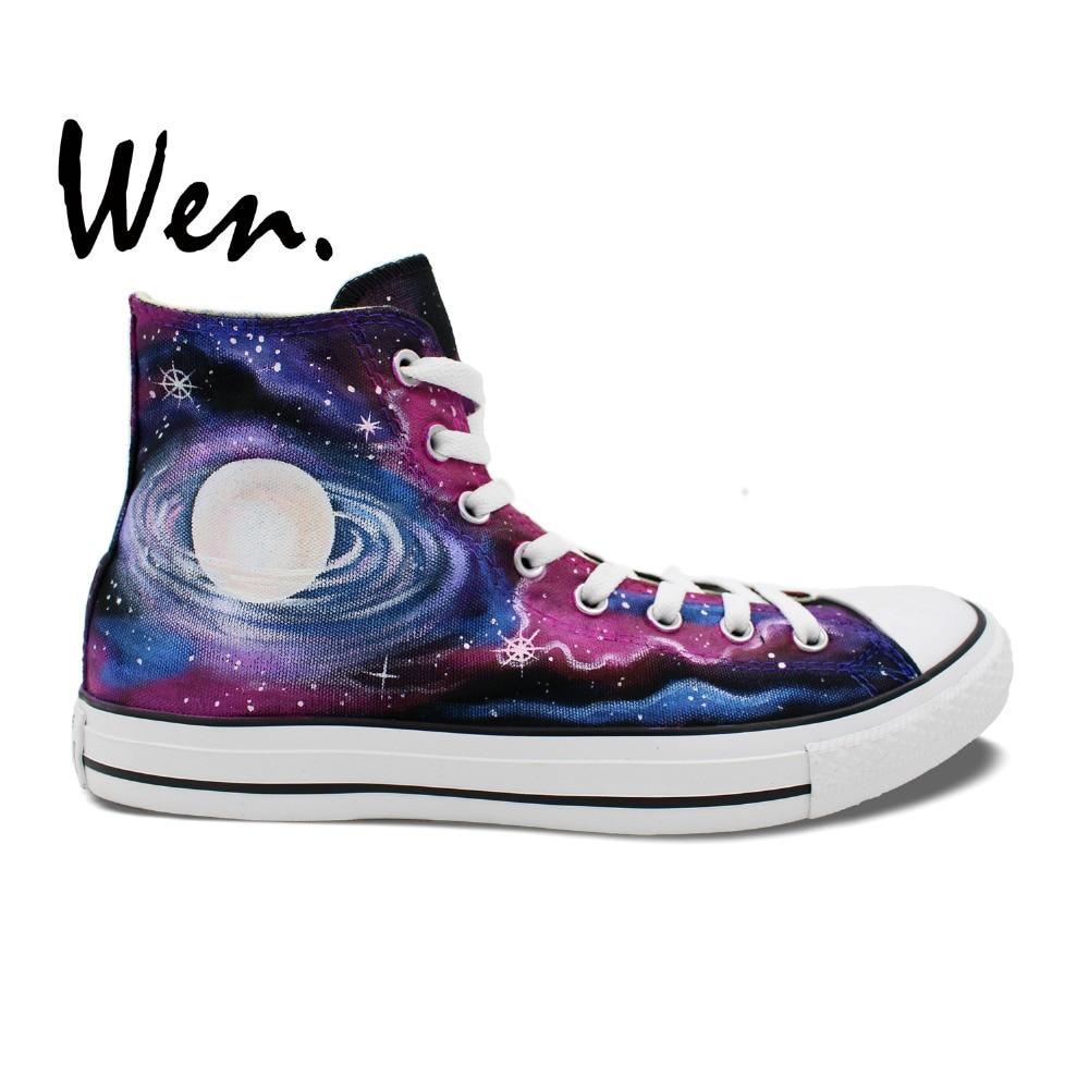 Wen Original Design Custom Hand Painted font b Shoes b font Galaxy Nebula Space font b