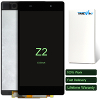 DHL 3pcs Original New Black For Sony Xperia Z2 D6502 D6503 D6543 LCD Screen Display With