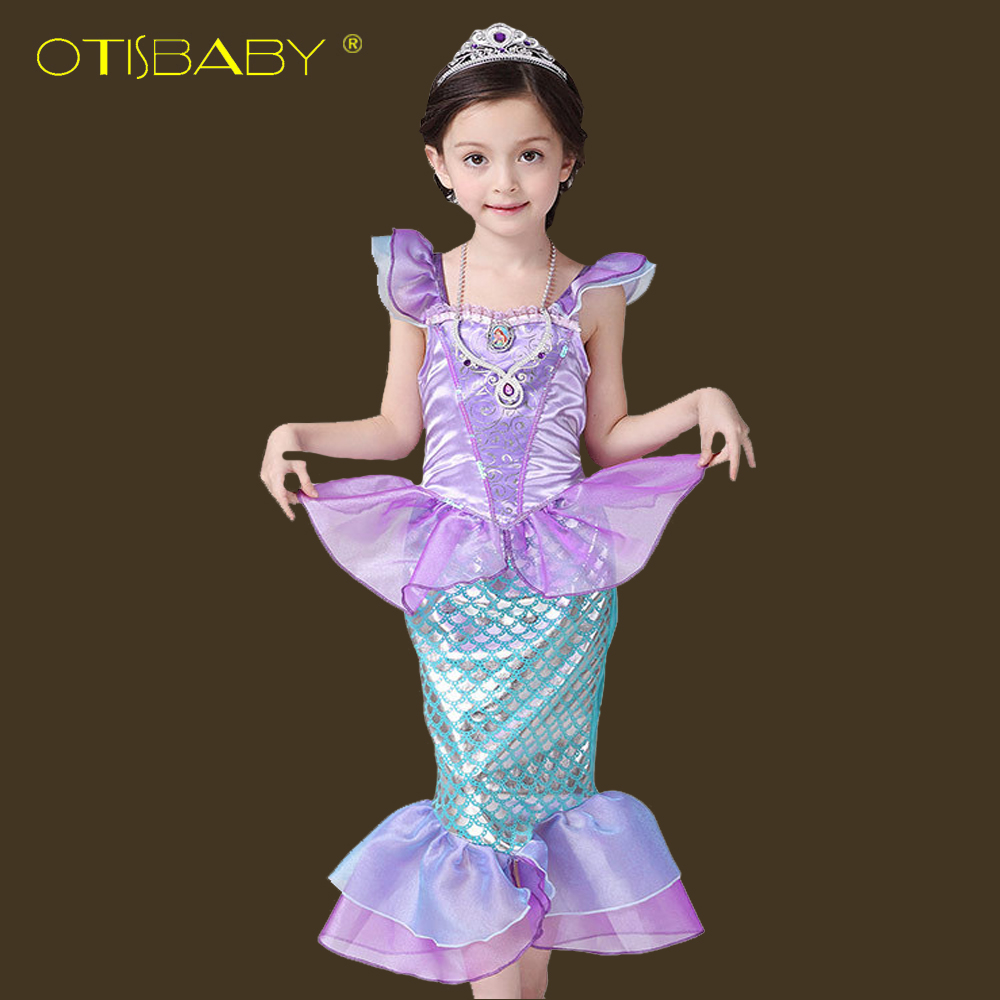 Girls Little Mermaid Dress Fancy Kids Ariel Princess Dresses Children Mermaid Clothes Christmas Carnival Party Cosplay Costumes movie the little mermaid princess ariel costume women ariel fancy dress cosplay dress