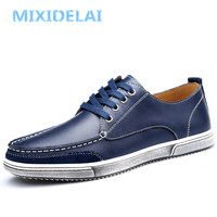 MIXIDELAI Genuine Leather Designer Business Sneakers Male For Men Shoes Adult Spring Men Dress Shoes Waterproof Walking Footwear