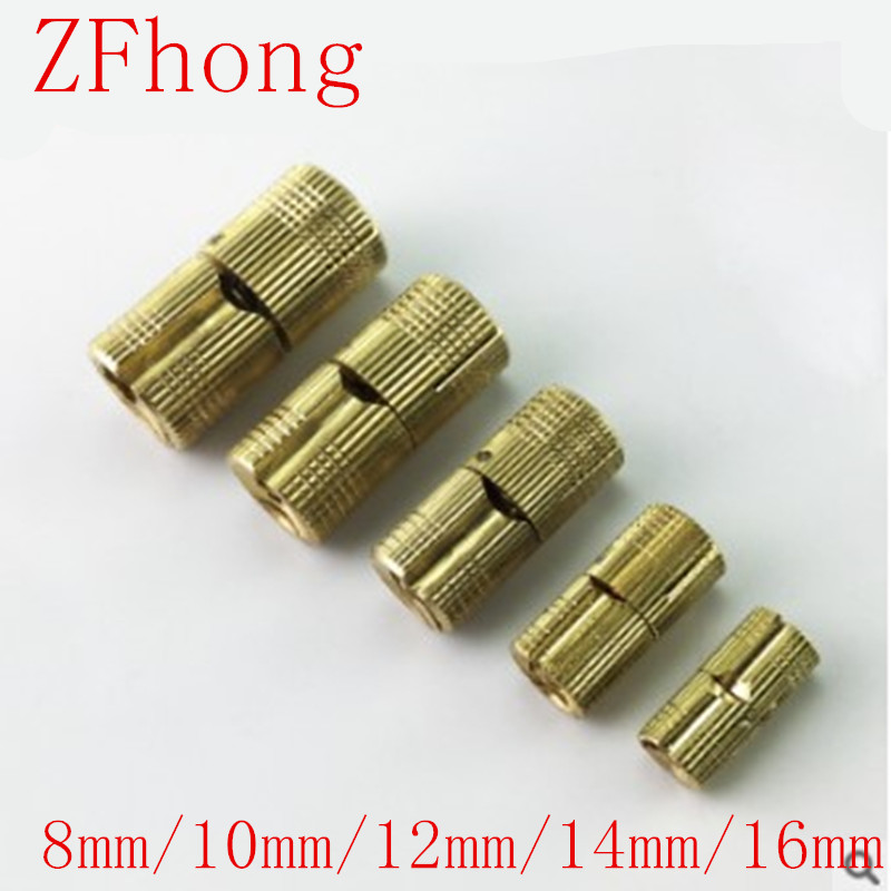 1pcs/lot 8mm 10mm 12mm 14mm Copper Barrel Hinges Cylindrical Hidden Cabinet Concealed Invisible Brass Hinges Mount