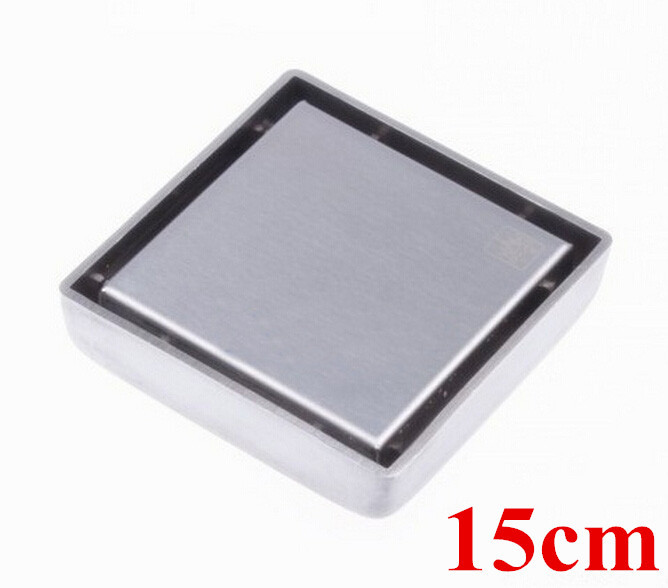 Free shipping 304 stainless steel 15cm*15cm anti-odor floor drain bathroom hardware square shower floor drain DR021 stainless steel hand palm odor remover lasts forever