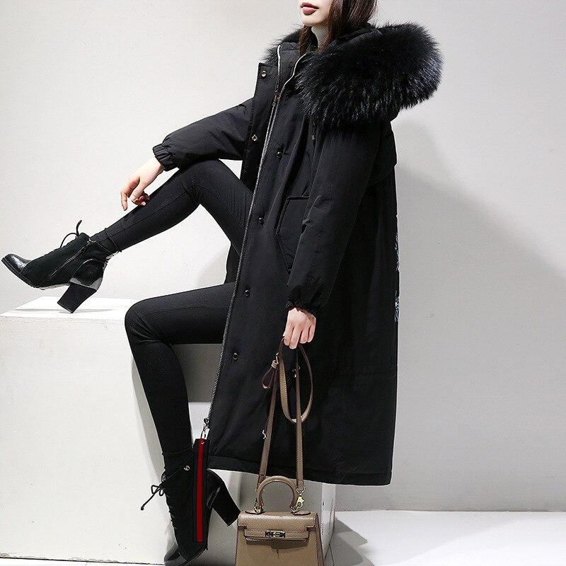Graisse Nouvelle Taille De Mince Femmes Hiver Noir Doudoune Robe Coton Grande Couche nX60wqxq