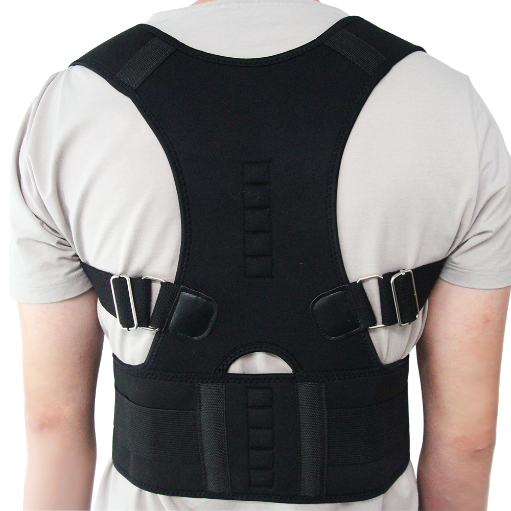 Adjustable Posture Corrector Belly Sweat Belt Posture Brace Shoulder Back Brace Support Men Corset Neoprene