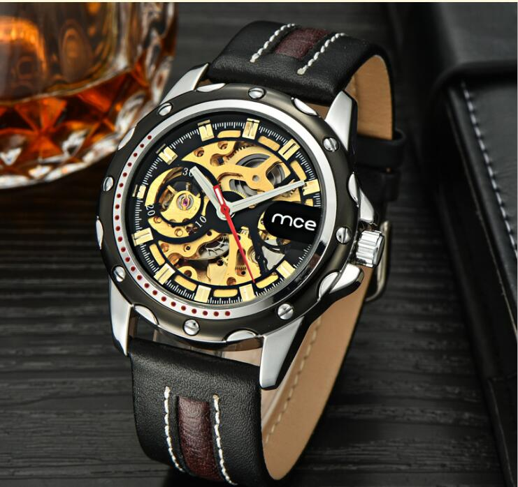 2018 Luxury geometry Skeleton Tourbillon Mechanical Watch Men Automatic Classic Leather Mechanical Wrist Watches Reloj Hombre lige skeleton tourbillon mechanical watch men automatic classic mechanical stainless steel wrist watches reloj hombre 2017
