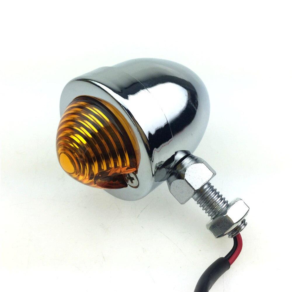 1 paar LED Motorrad Kugel Blinker Anzeige Lichter Bernstein Blinker Blinkt Motorrad Lampe für Yamaha Universal schwarz