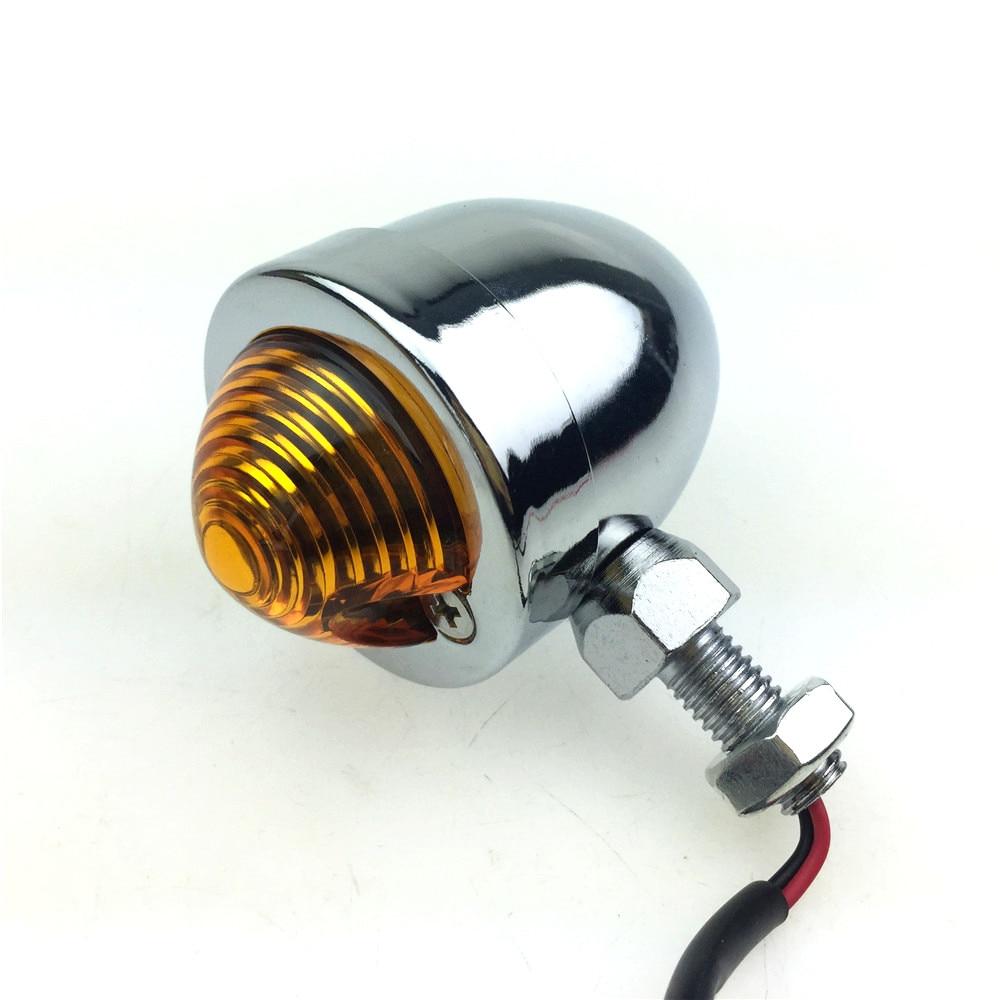 1Pair LED Motorcycle Bullet Turn Signals Indicator Lights Amber Blinker Flashing Motorcycle Lamp For Yamaha Universal Black