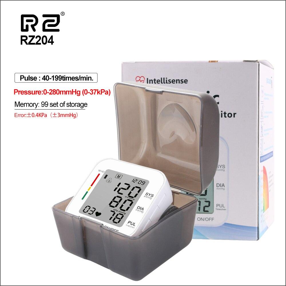 RZ Digital Wrist Blood Pressure Monitor Pulse Rate Heart Beat Rate Meter Device Medical Equipment Tonometer BP Sphygmomanometer-in Blood Pressure from Beauty & Health