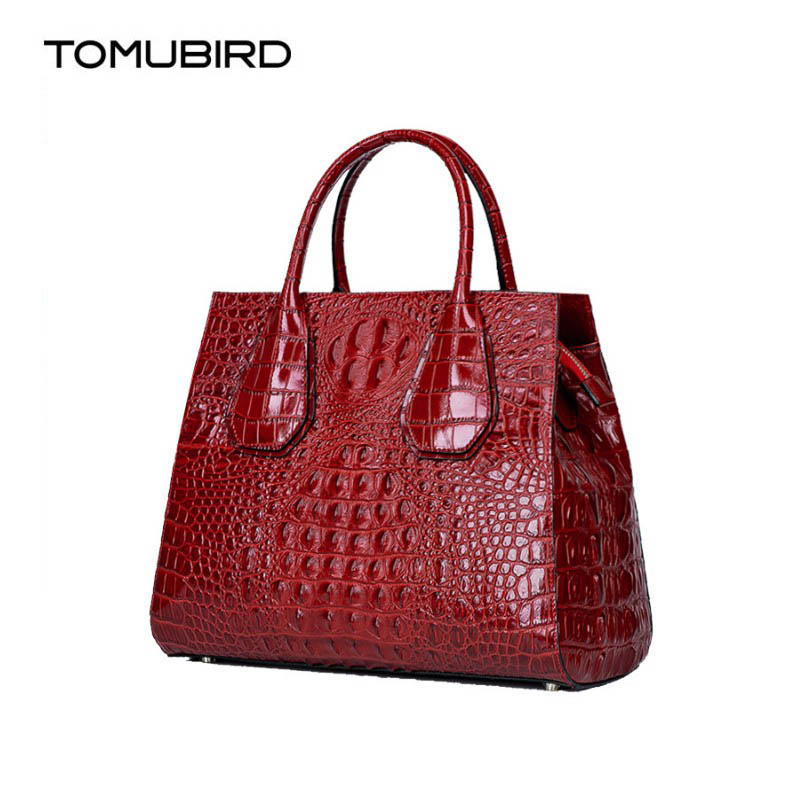 Women genuine leather bag famous brands Superior cowhide Crocodile pattern embossed women leather handbags shoulder bag women crocodile embossed bag handbags 100% genuine cow leather for women handbag flaps shoulder tote messenger bag famous brands