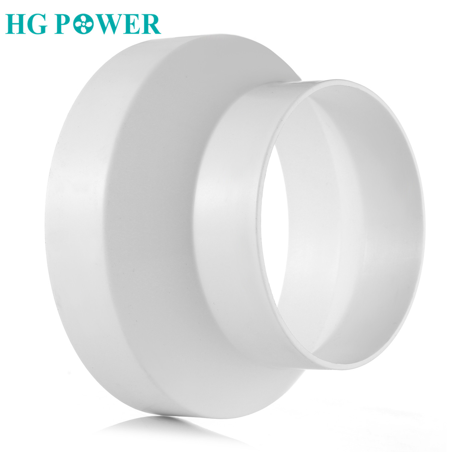 Plastic Straight Duct Adaptor Connector Reducer And Increaser Connecting Inline Heating Cooling Ventilation Duct Fan Accessories