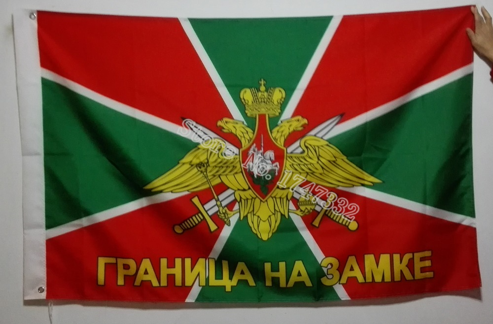 Border Guards of Russia Russisk Army Flag Hot Sælg Varer 3X5FT 150X90CM Banner messing Metal huller RA12
