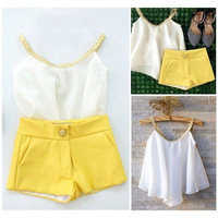 2017 Lady Style Summer Fashion Leisure Solid Street Beat Children S Clothing Set Girls Clothes Baby