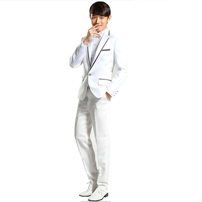 jacketpants new suit male prom formal full dress for