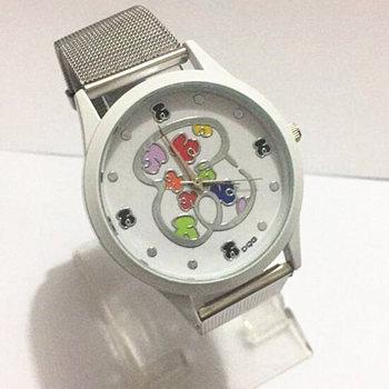 Luxury Fashion Brand Bear Latest Quartz Watch Women Stainless Steel Mesh Strap Watch Women High Quality Dress Watch kobiet цена 2017