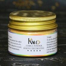 10 г на бутылку Золотой съедобный порошок можно использовать для украшения продуктов, как Торт Мороженое шоколад Бесплатная доставка