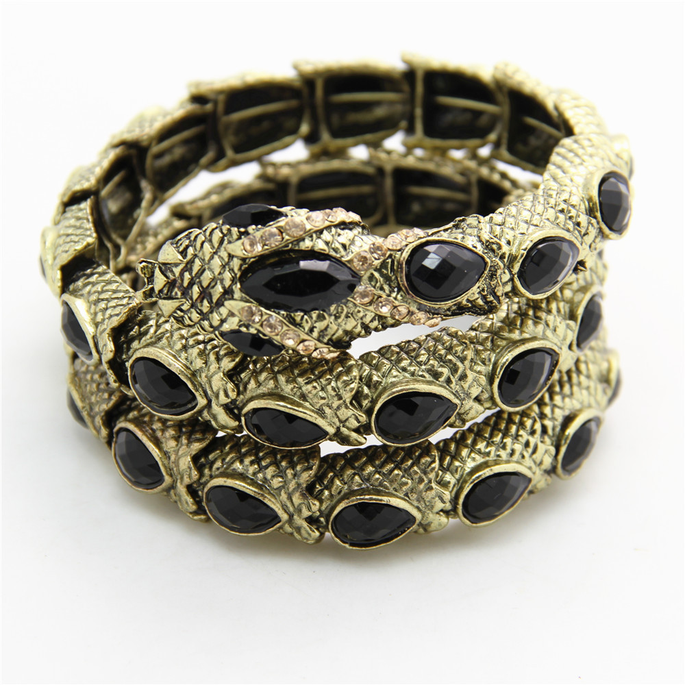 Canlyn Jewelry Mystical Serpent Multi Layer Wraparound Crsytal Vintage Exaggerated Snake Bracelets Bangles For Women In From