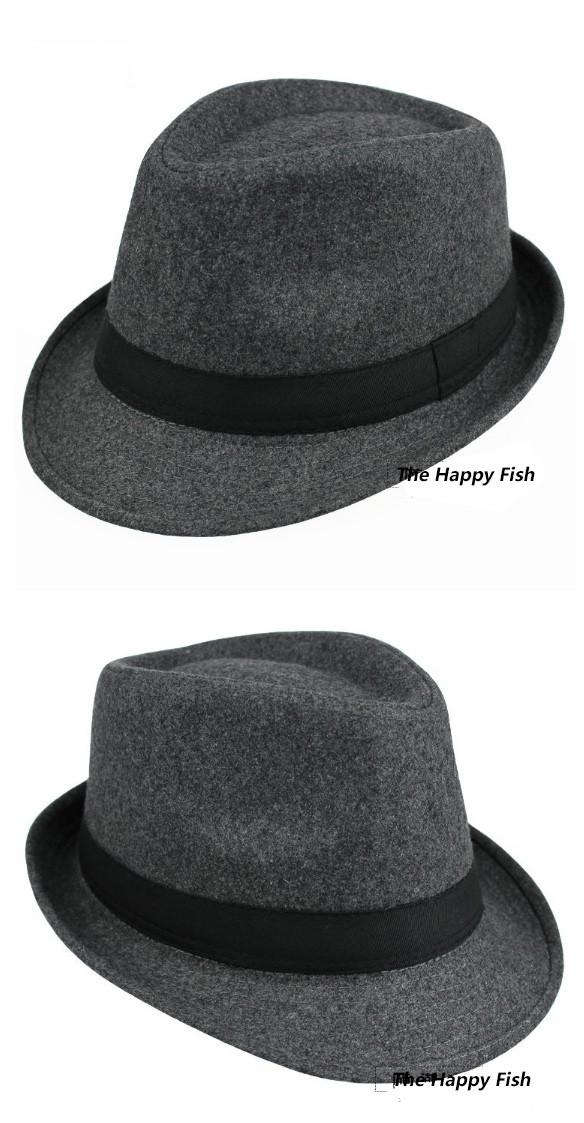 Original Unisex Structured Wool Fedora Hat Fedora hats for men fedora felt hat (9)