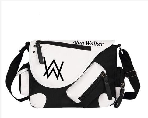 ФОТО Skrillex Alan Walker Avicii Canvas Casual Zipper Boys Girls Shoulder Bag Crossbody Bags Schoolbags Messenger Bag