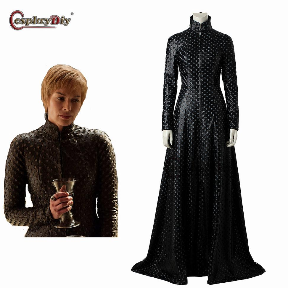 Cersei Lannister Dress Game of Thrones 7 Cosplay Costume Cersei Lannister Coat Women Costumes For Halloween Outfit Custom Made