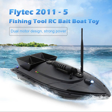 Flytec 2011-5 Fishing Tool Smart RC Bait Boat Toy Digital Automatic Frequency Modulation Remote Radio Control Device Fish Toys(China)