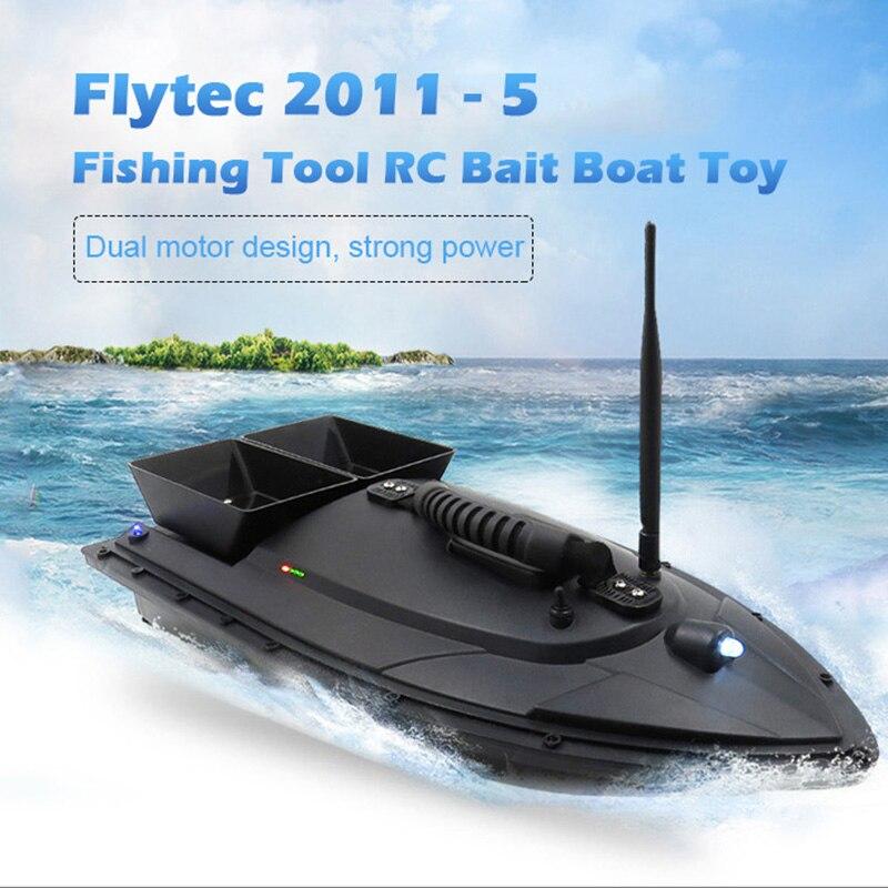 Flytec 2011 5 낚시 도구 스마트 rc 미끼 보트 장난감 디지털 자동 주파수 변조 원격 라디오 제어 장치 물고기 완구-에서RC보트부터 완구 & 취미 의  그룹 1