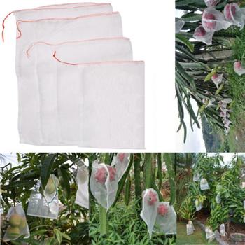 50 sztuk zestaw ogród roślin owoce chronić sznurek siatka torba anty ptak siatki bezpieczeństwa netto siatka na owoce gardon narzędzie rolnicze części tanie i dobre opinie