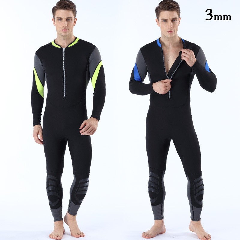 Men One Piece Long Sleeve Lycra Diving Wetsuit for Swimming Surfing Rashguard Sunscreen Body Suit Plus size swimwear hot men women summer lycra swimming caps anti uv sunscreen nylon mask facekini head ear long hair protection diving hats i