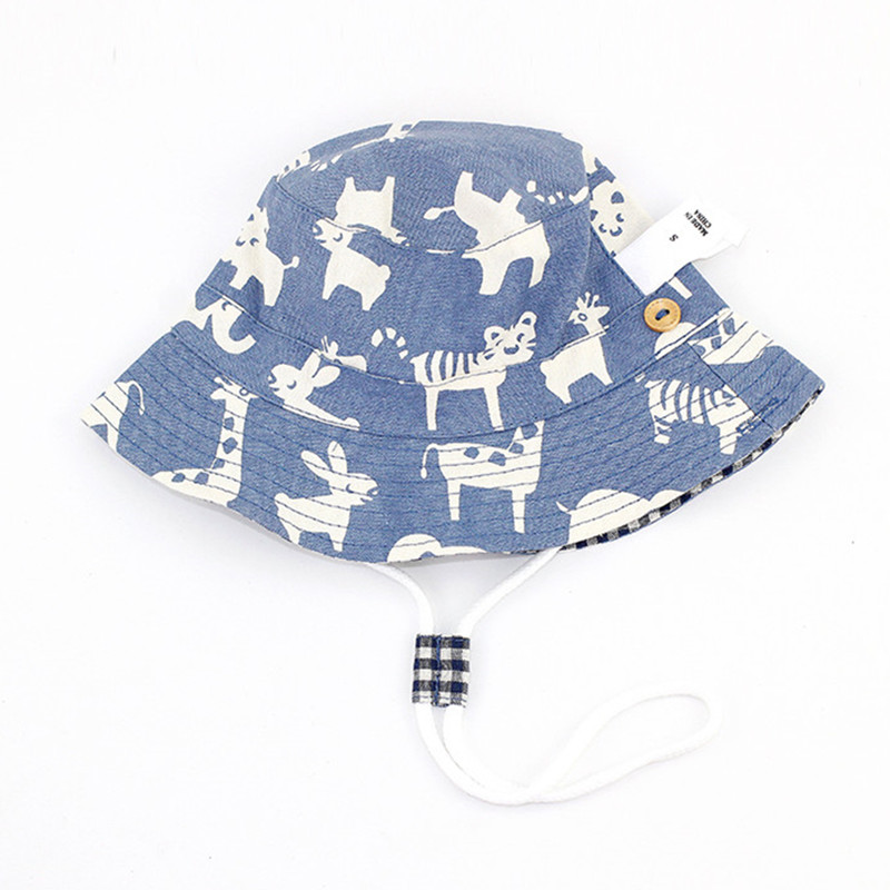 baby & kids boys fashion summer cartoon fold-over bucket play hat children cotton casual ...
