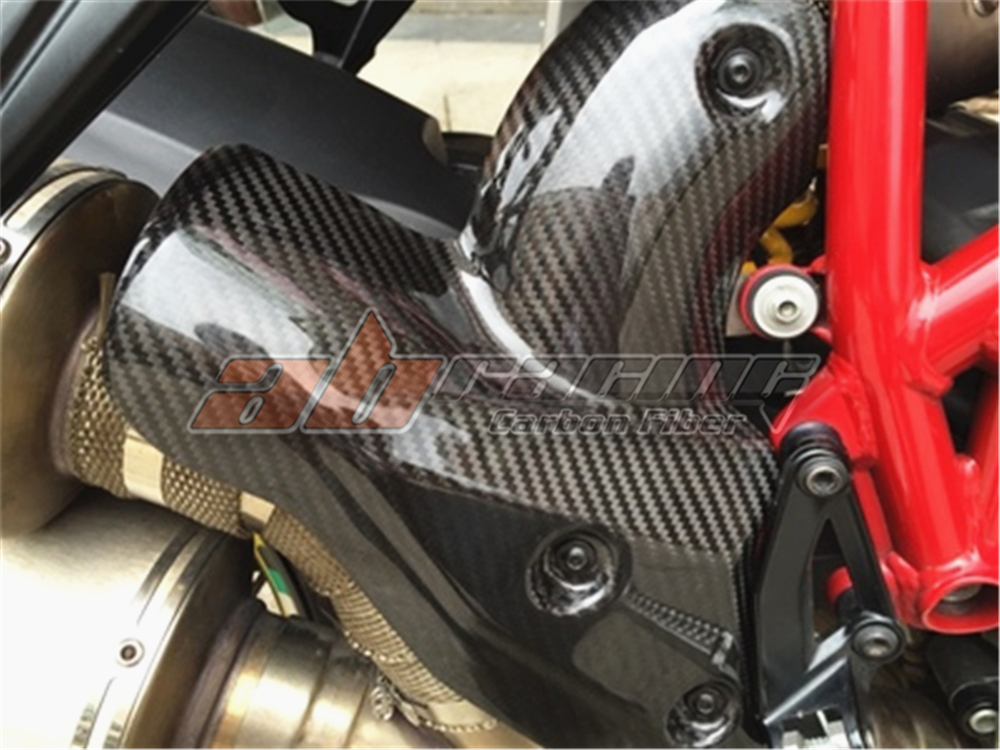 Heat Protection  For Ducati Streetfighter  Full Carbon Fiber 100%  Protection