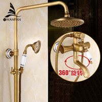 Shower Faucets Bath Shower Sets Antique Brass Finish Bathroom Rainfall With Spray Shower Set Durable Brass Faucet Set ST 9136