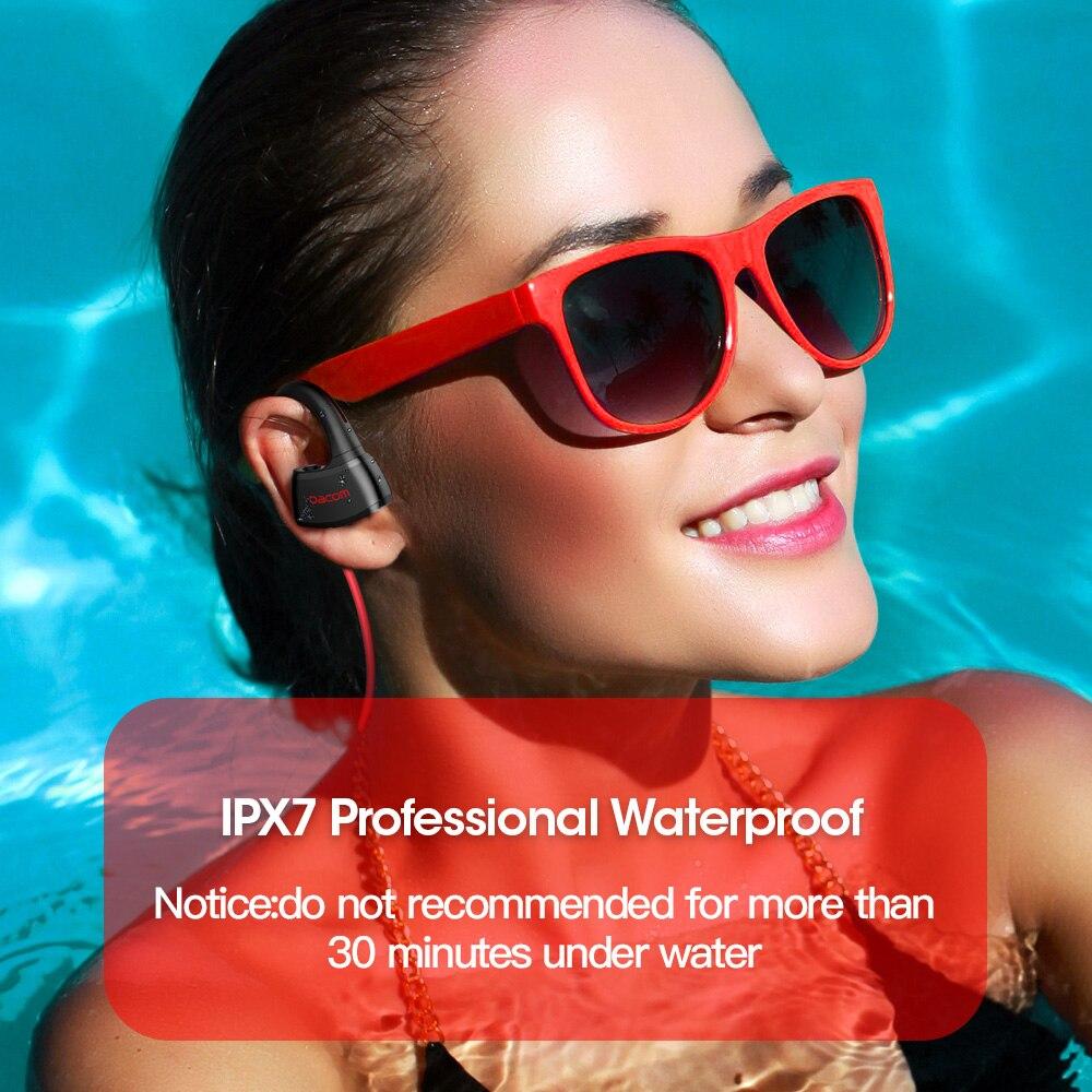 DACOM P10 MP3 lecteur téléphone casque stéréo Sport sans fil Bluetooth écouteurs casque avec 512M mémoire IPX7 casque étanche-in Écouteurs et casques from Electronique    2